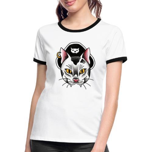 Piratecat - Maglietta Contrast da donna