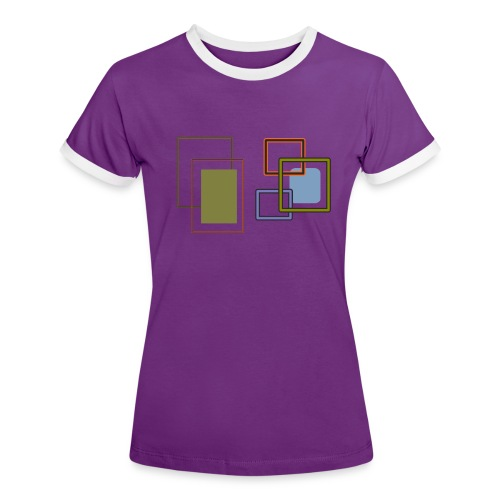 Quadratisch - Frauen Kontrast-T-Shirt