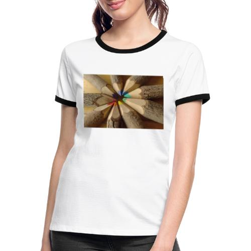 flo - Camiseta contraste mujer