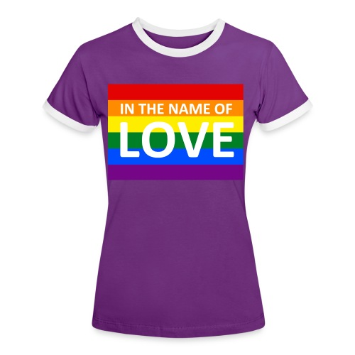 IN THE NAME OF LOVE RETRO T-SHIRT - Dame kontrast-T-shirt