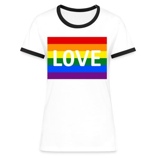 LOVE SHIRT - Dame kontrast-T-shirt