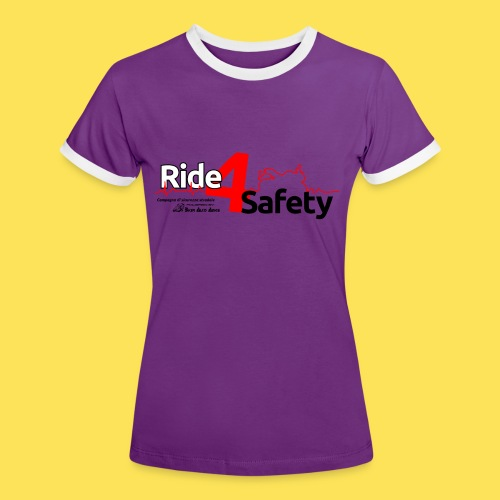 Ride 4 Safety - Maglietta Contrast da donna