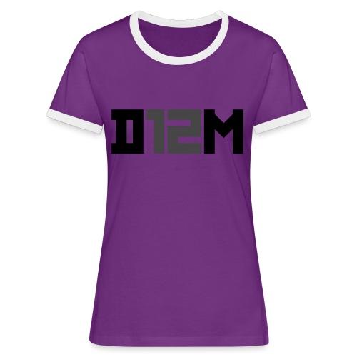 D12M: SHORT BLACK - Vrouwen contrastshirt
