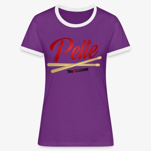 Pette the Drummer - Women's Ringer T-Shirt