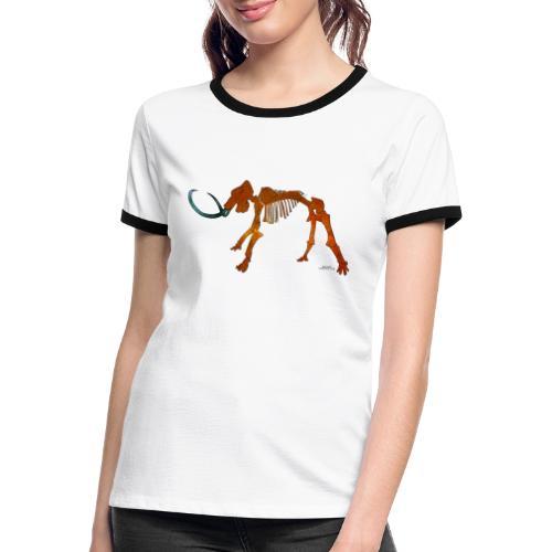 Halloween Space Mammoth Skelett - Frauen Kontrast-T-Shirt