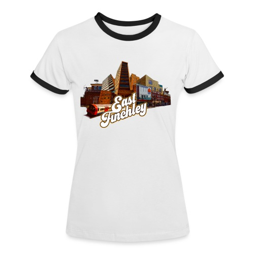 East Finchley Retro Montage - Women's Ringer T-Shirt