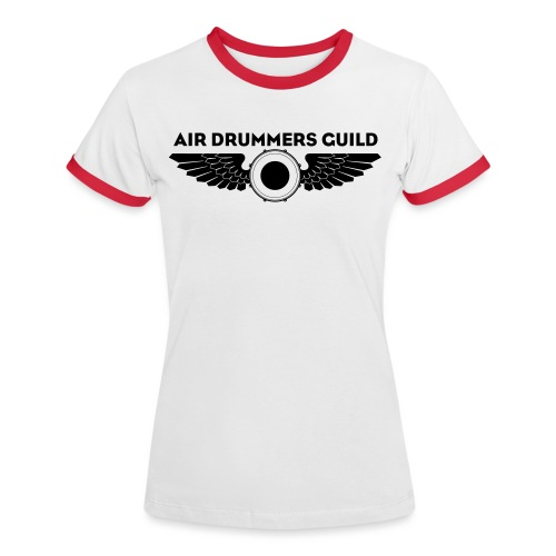 ADG Drum'n'Wings Emblem - Women's Ringer T-Shirt