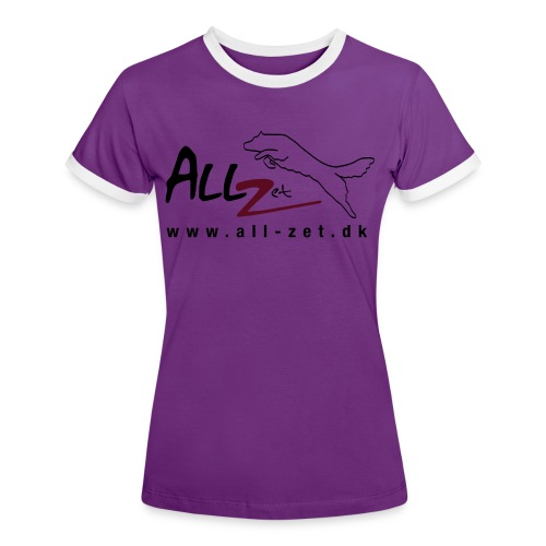 All Zet Logo - Dame kontrast-T-shirt