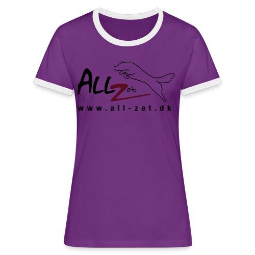 All Zet Logo - Dame kontrast-T-shirt