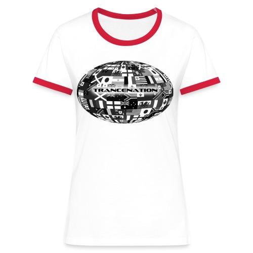 trancenation - Kontrast-T-shirt dam