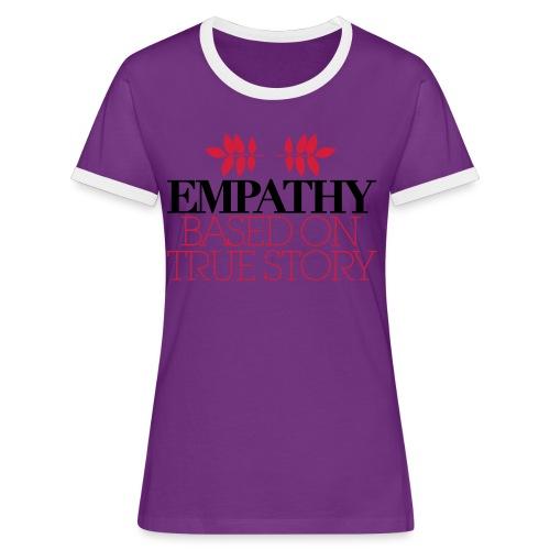 empathy story - Koszulka damska z kontrastowymi wstawkami