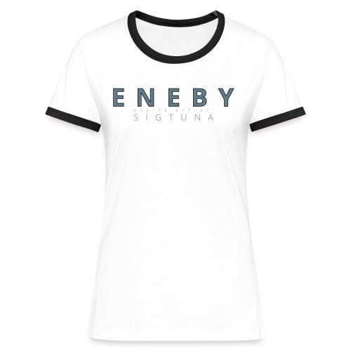 Eneby Sigtuna logo - Kontrast-T-shirt dam