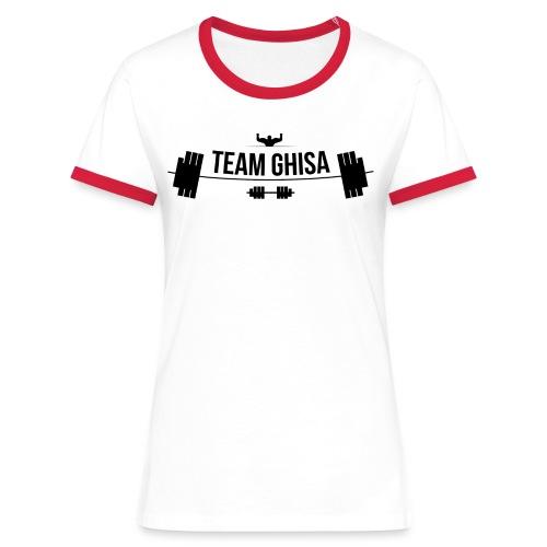 TEAMGHISALOGO - Maglietta Contrast da donna