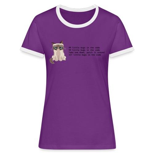 99 litle bugs of code - Vrouwen contrastshirt