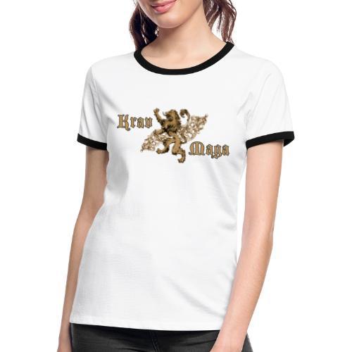 Krav Maga Lion Crest - Women's Ringer T-Shirt