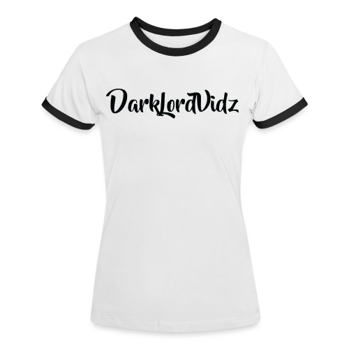 DarklordVidz Black Logo - Women's Ringer T-Shirt