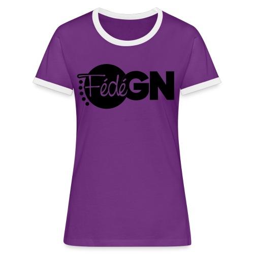 Logo FédéGN pantone - T-shirt contrasté Femme