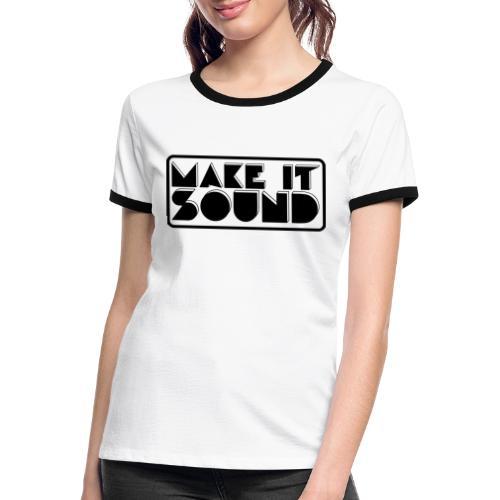 MAKE IT SOUND UMEÅ - Kontrast-T-shirt dam