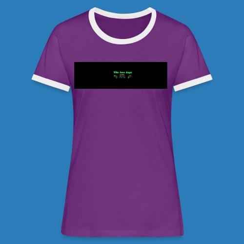 tetete-png - Dame kontrast-T-shirt