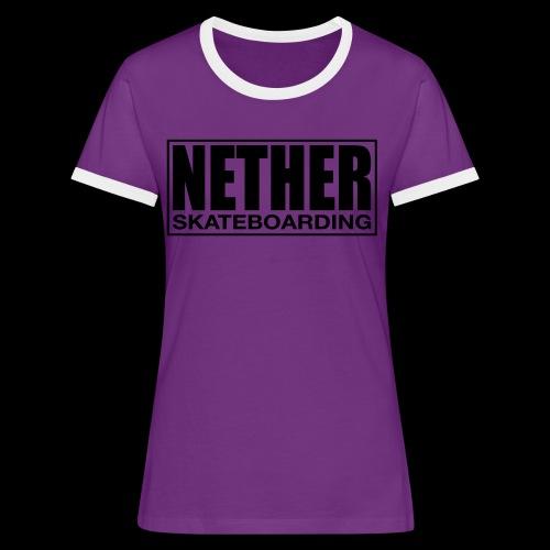 Nether Skateboarding T-shirt White - Maglietta Contrast da donna