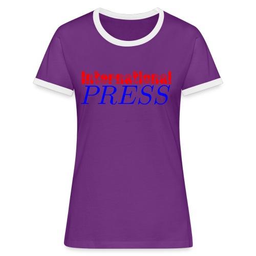 int_press-png - Maglietta Contrast da donna