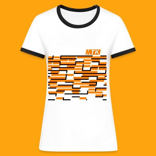 Orange Cubes - Frauen Kontrast-T-Shirt