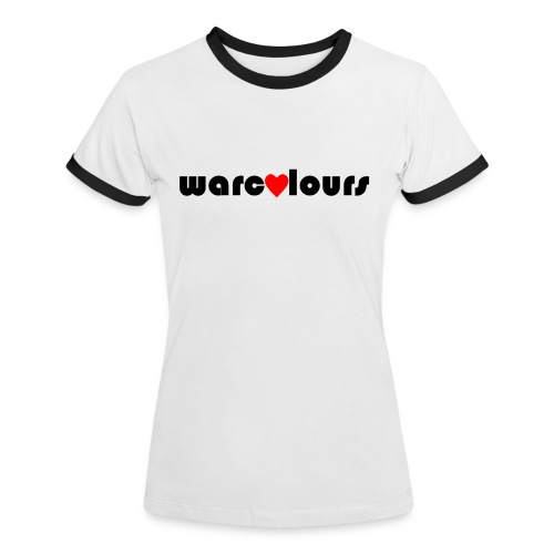 love warcolours black - Women's Ringer T-Shirt
