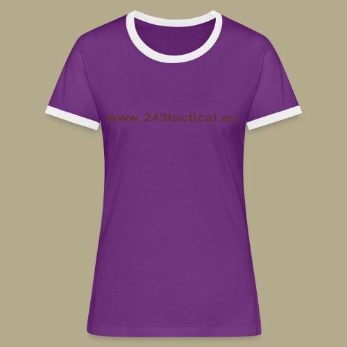 .243 Tactical Website - Vrouwen contrastshirt