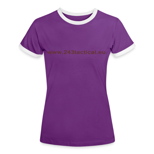 .243 Tactical Website - Vrouwen contrastshirt