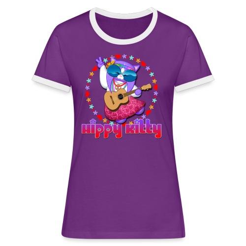 Hippy Kitty - Maglietta Contrast da donna