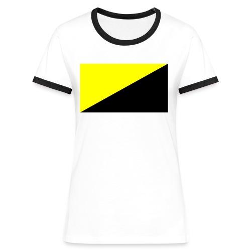 Anarcho capitalist flag big - Kontrast-T-shirt dam