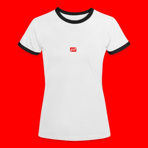 pd Red - Dame kontrast-T-shirt