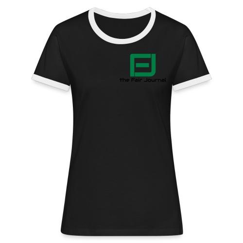 the Fair Journal - Kontrast-T-shirt dam