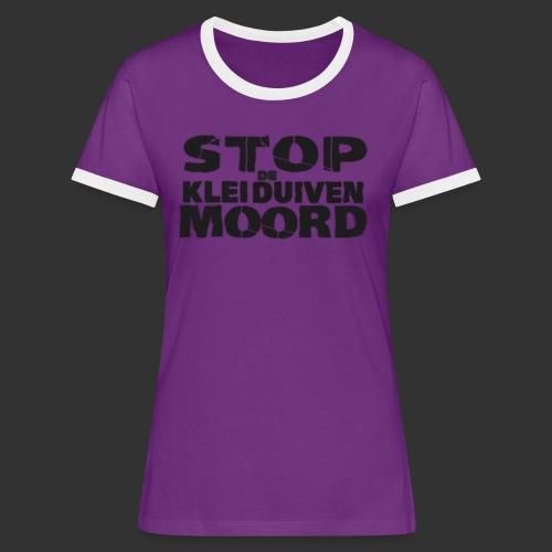 kleiduivenmoord - Vrouwen contrastshirt