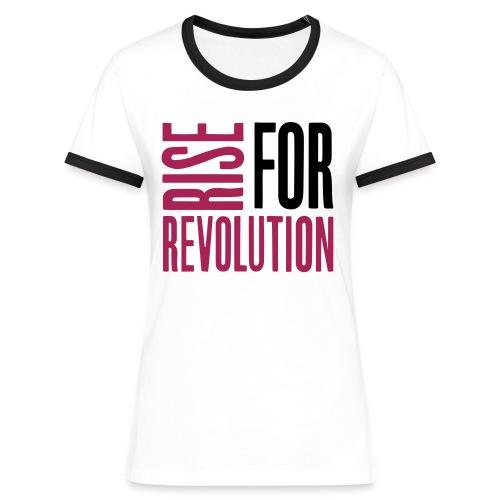 rise for rev logo - Women's Ringer T-Shirt