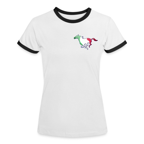 Galoppo Italia - rilievo - Maglietta Contrast da donna