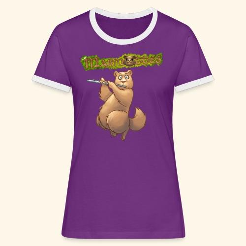 Tshirt Flute devant 2 - T-shirt contrasté Femme