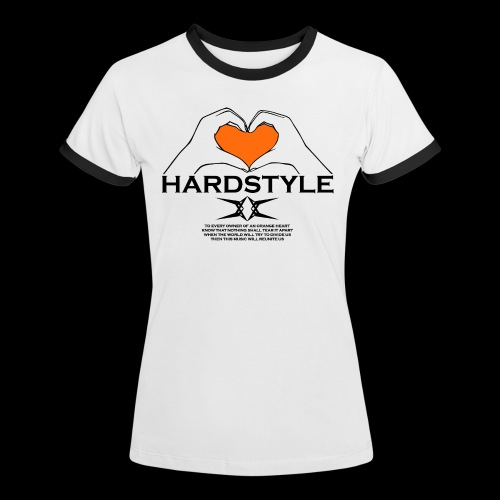Hardstyle = My Style - Owner Of An Orange Heart - Vrouwen contrastshirt