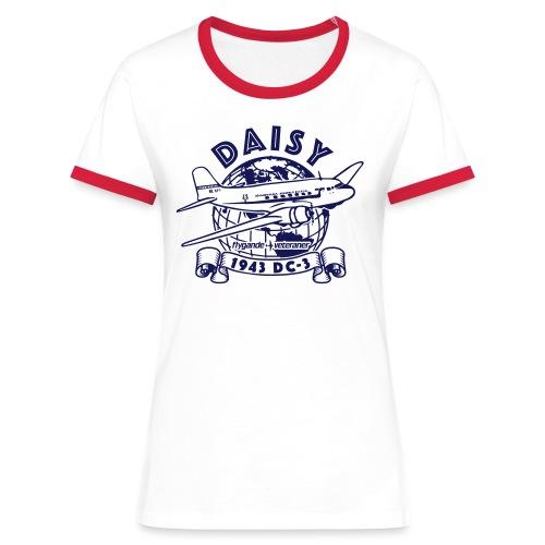 Daisy Globetrotter 1 - Kontrast-T-shirt dam