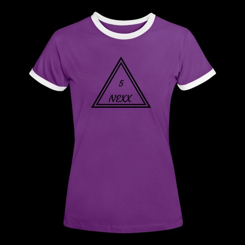5nexx triangle - Vrouwen contrastshirt