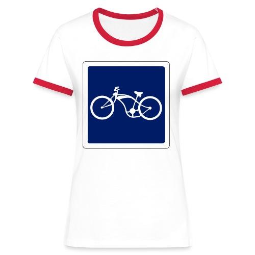 panneau - T-shirt contrasté Femme