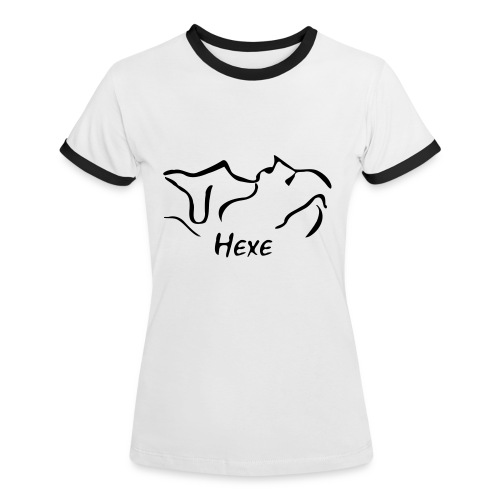 Hexe - Frauen Kontrast-T-Shirt