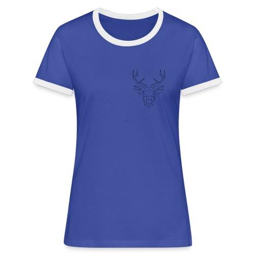 cerf geometrique png - T-shirt contrasté Femme