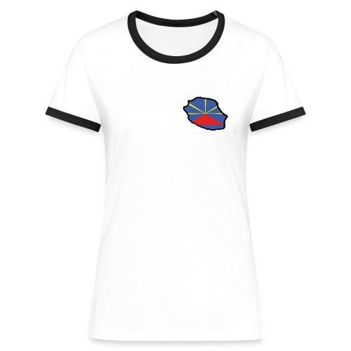 Drapeau Lo Mahaveli - T-shirt contrasté Femme