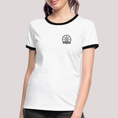 Anker Land Sea - Frauen Kontrast-T-Shirt