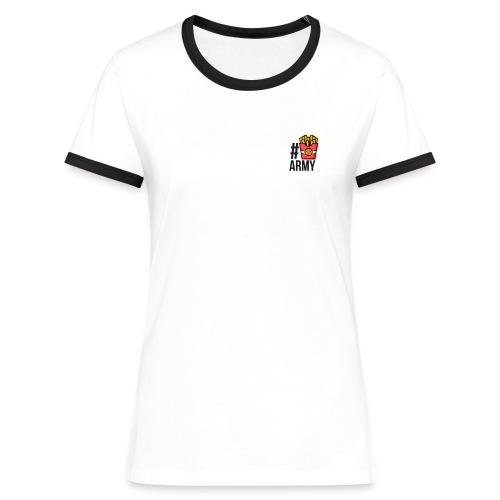 #POMMES-Army Design - Frauen Kontrast-T-Shirt