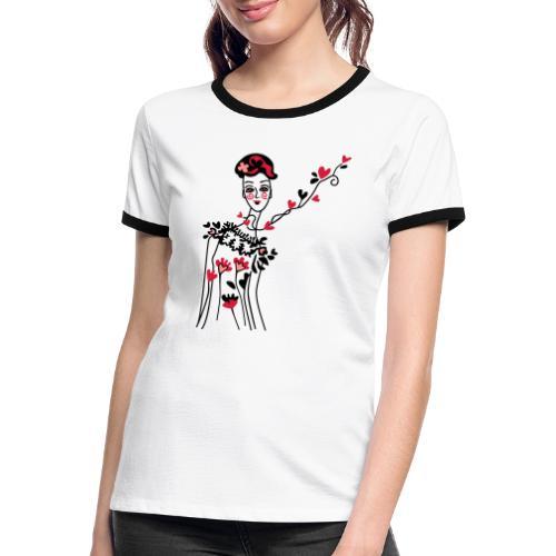 donnina di cuori - Maglietta Contrast da donna
