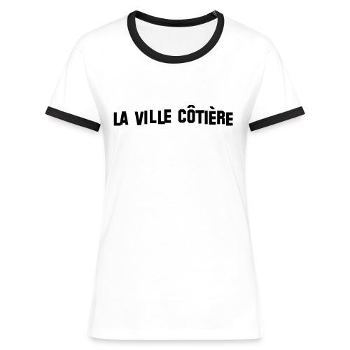 Débardeur avec inscription La Ville Côtière noir - T-shirt contrasté Femme