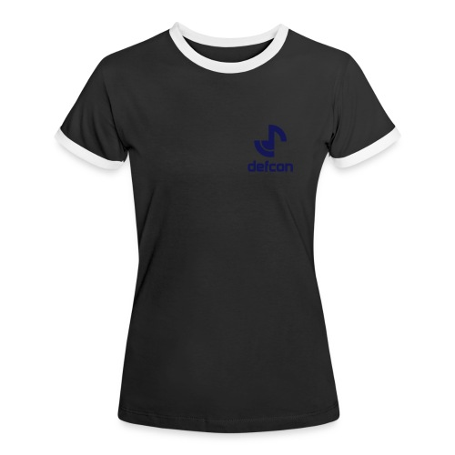 defcon logo and text vector2 - Women's Ringer T-Shirt