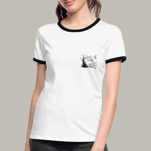 Little piece of van gogh - T-shirt contrasté Femme